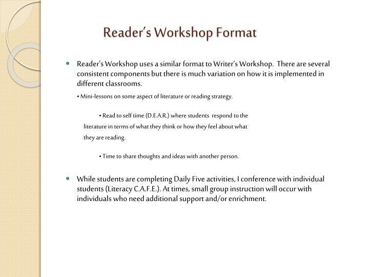 Reader's Workshop Format