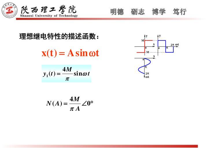 理想继电特性的描述函数: