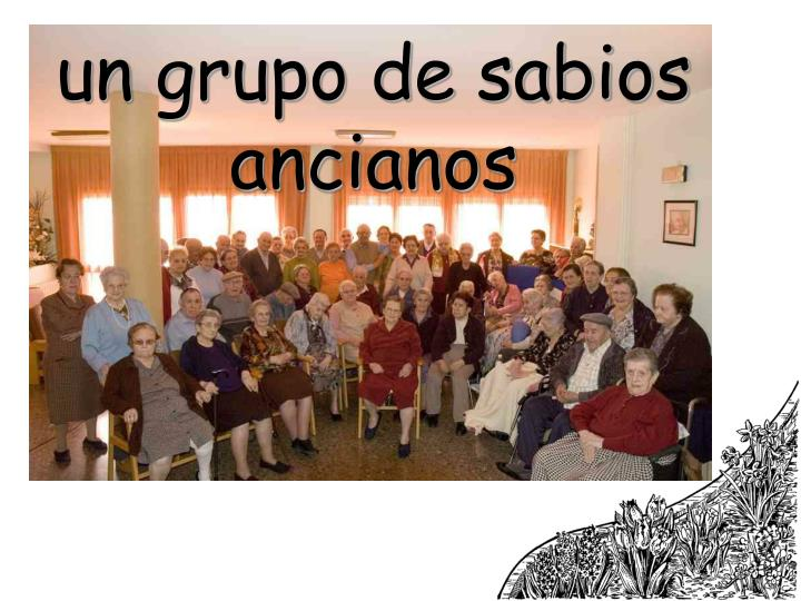un grupo de sabios ancianos