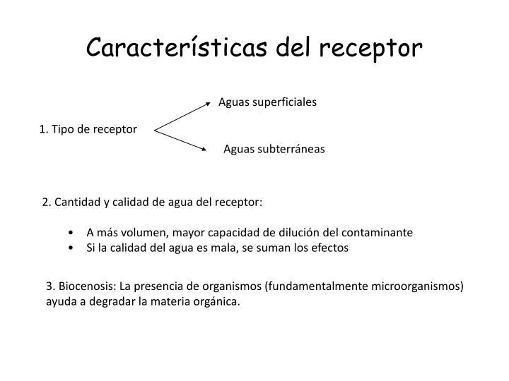 Características del receptor