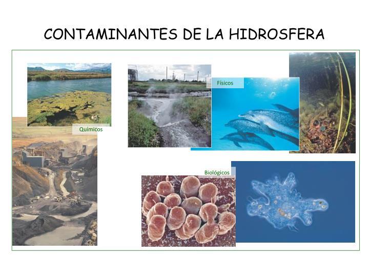 CONTAMINANTES DE LA HIDROSFERA