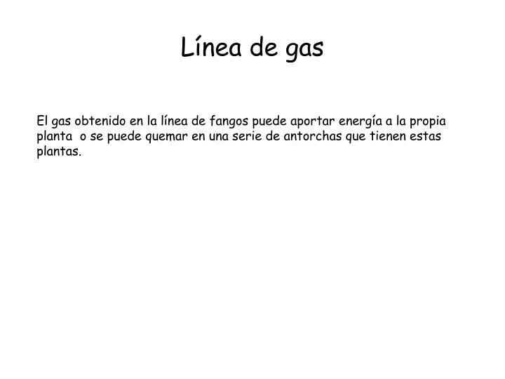 Línea de gas