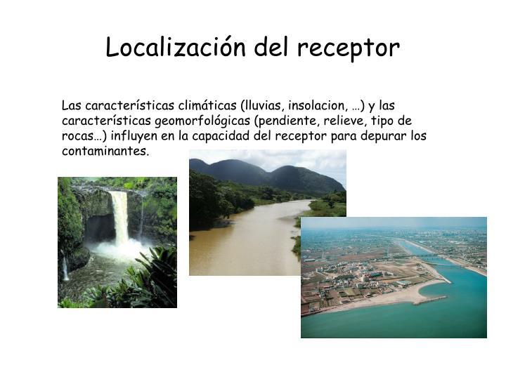 Localización del receptor