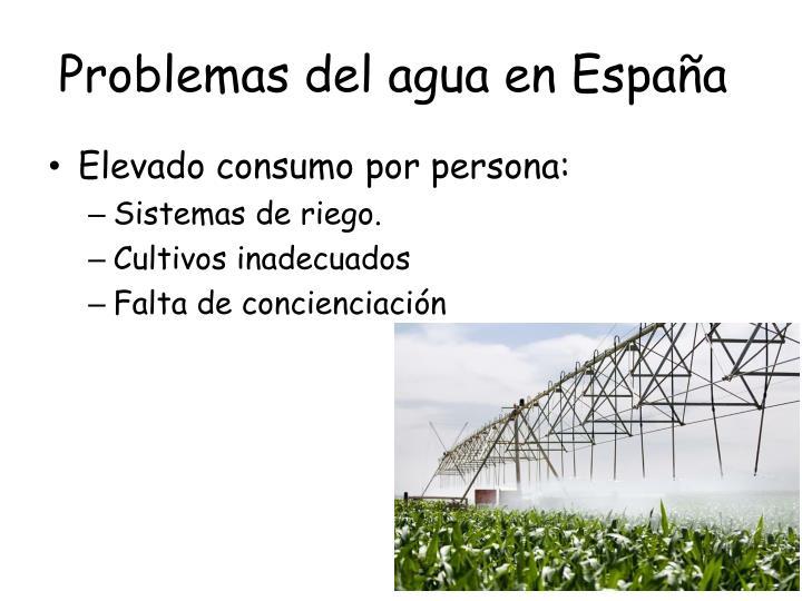 Problemas del agua en España