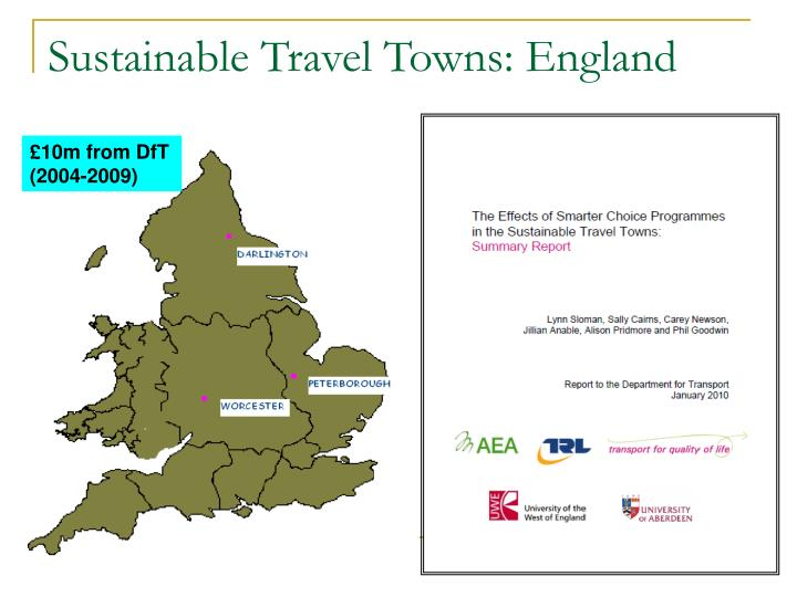 Sustainable Travel Towns: England