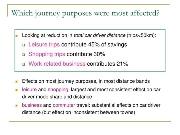 Which journey purposes were most affected?