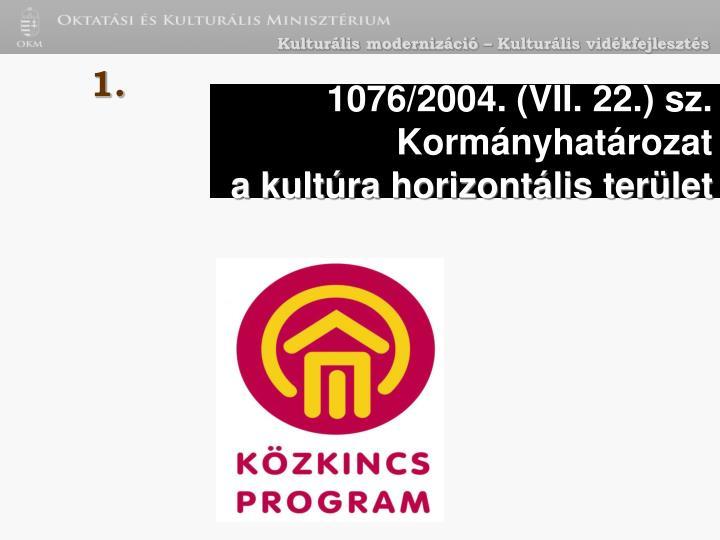 1076/2004. (VII. 22.) sz. Kormányhatározat