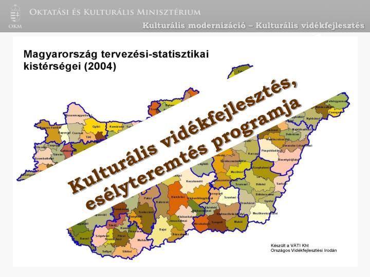 Kulturális modernizáció – Kulturális vidékfejlesztés