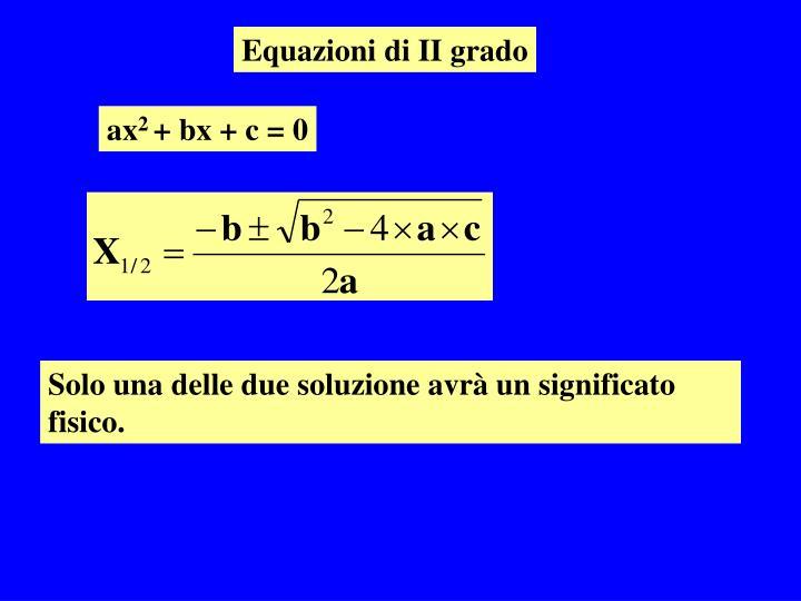 Equazioni di II grado