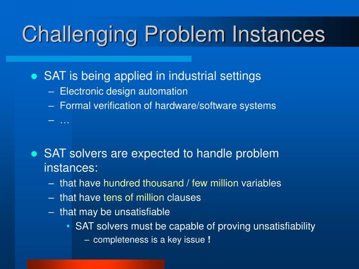 Challenging Problem Instances