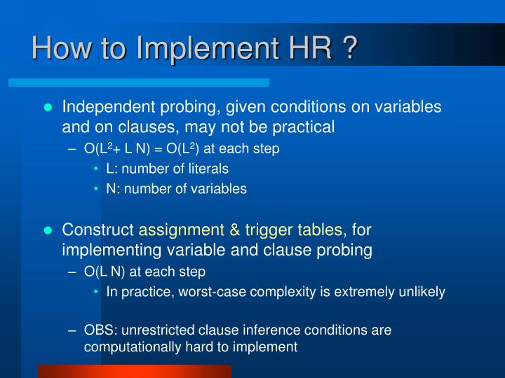 How to Implement HR ?