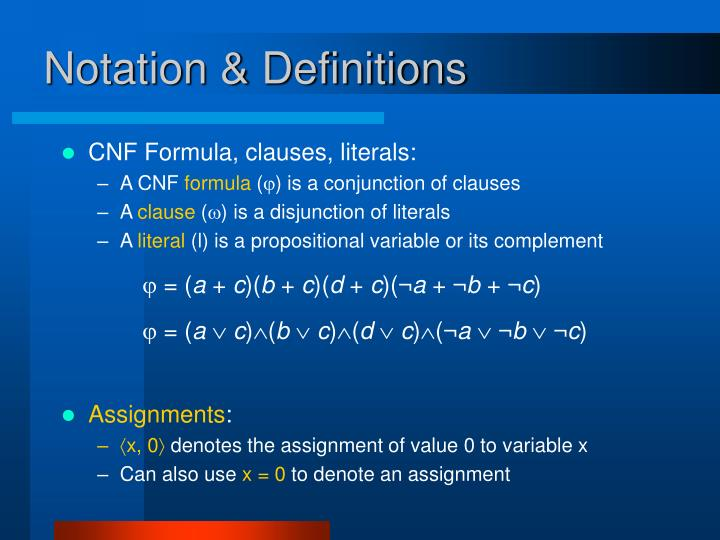 Notation & Definitions
