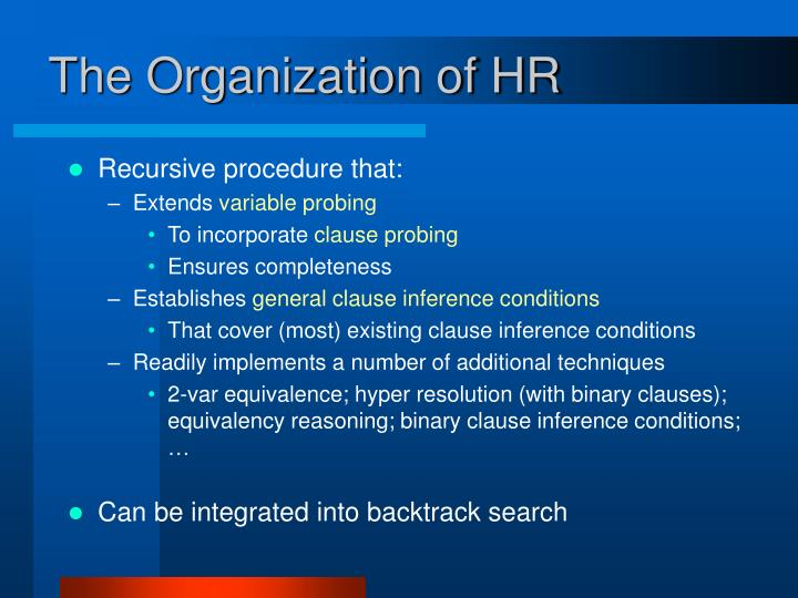 The Organization of HR
