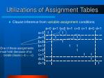 utilizations of assignment tables2