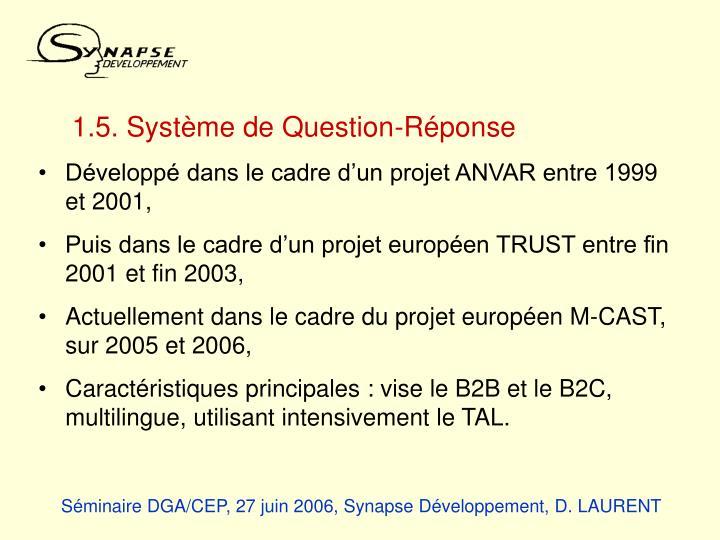1.5. Système de Question-Réponse