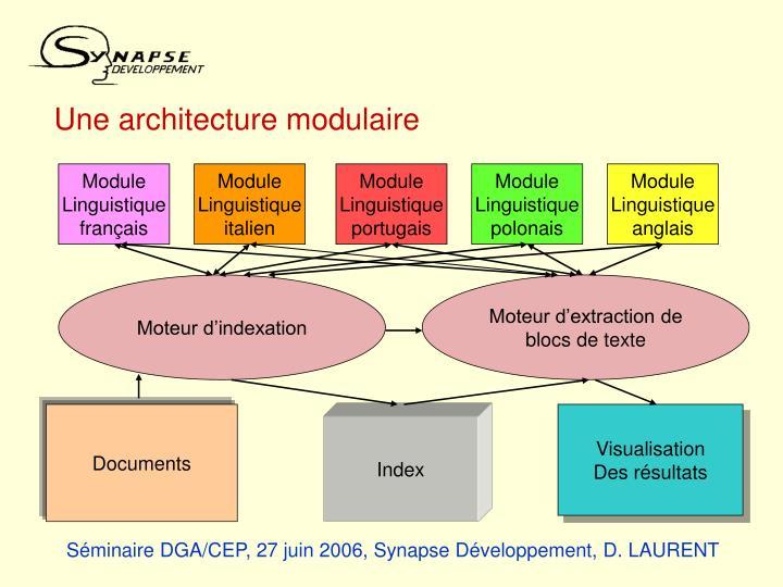 Une architecture modulaire
