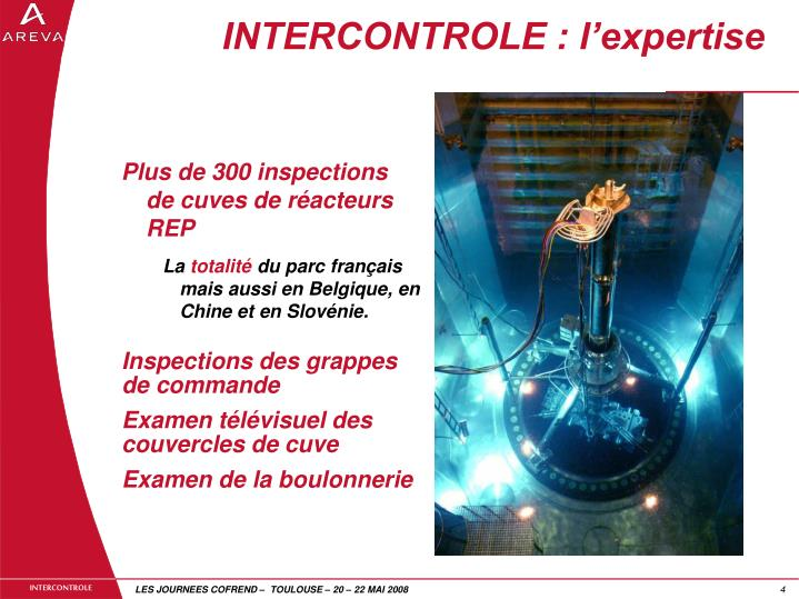 INTERCONTROLE : l'expertise