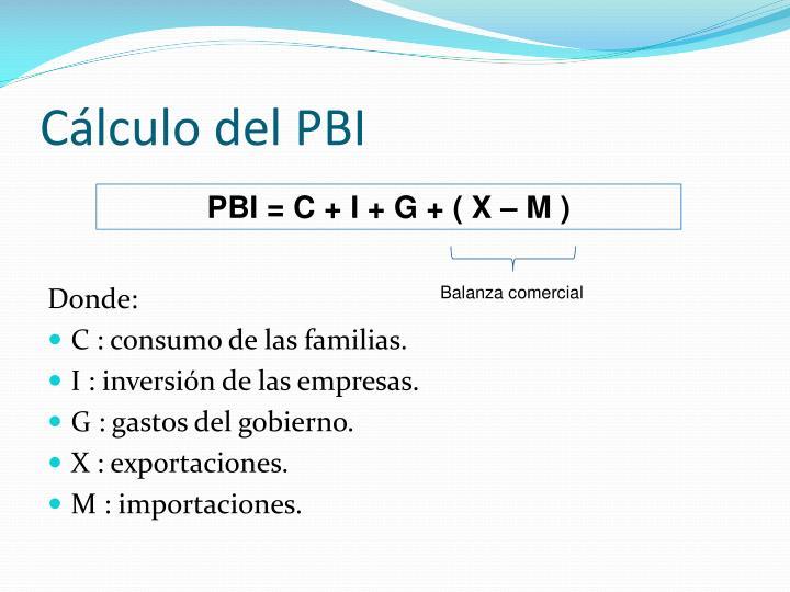 Cálculo del PBI