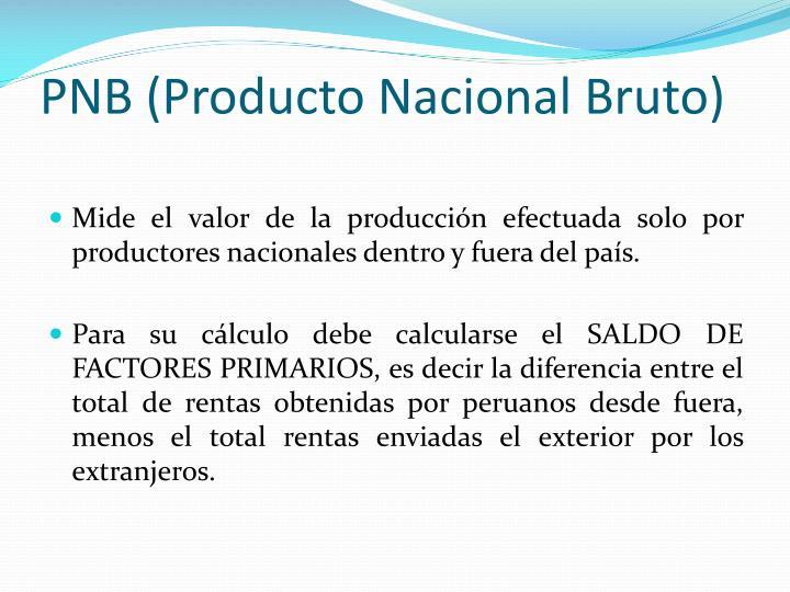 PNB (Producto Nacional Bruto)