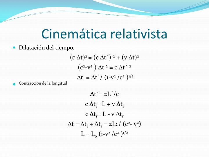 Cinemática relativista