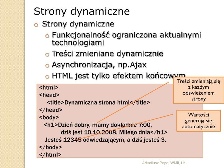 Strony