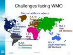 challenges facing wmo