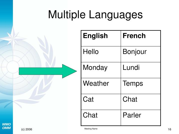 Multiple Languages