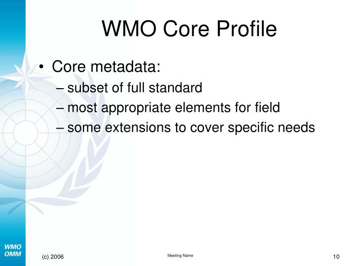 WMO Core Profile