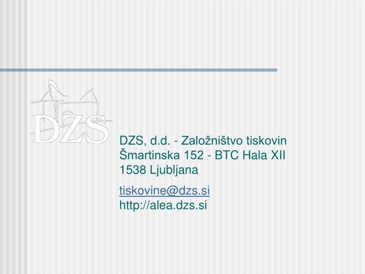 DZS, d.d. - Založništvo tiskovin