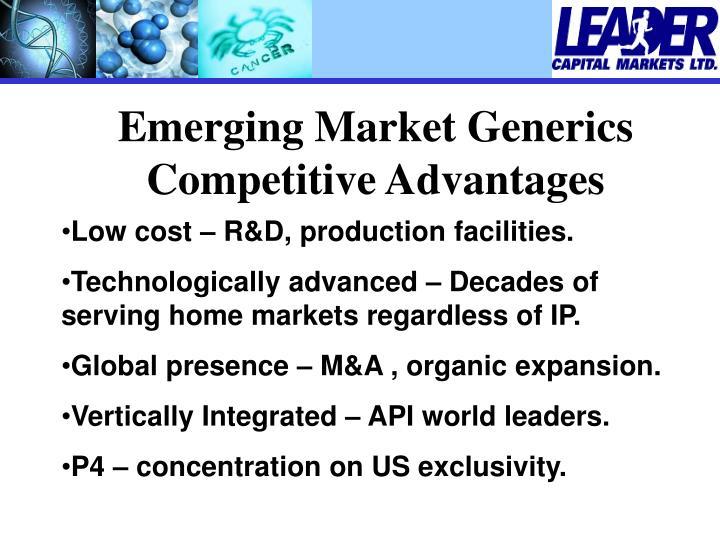Emerging Market Generics