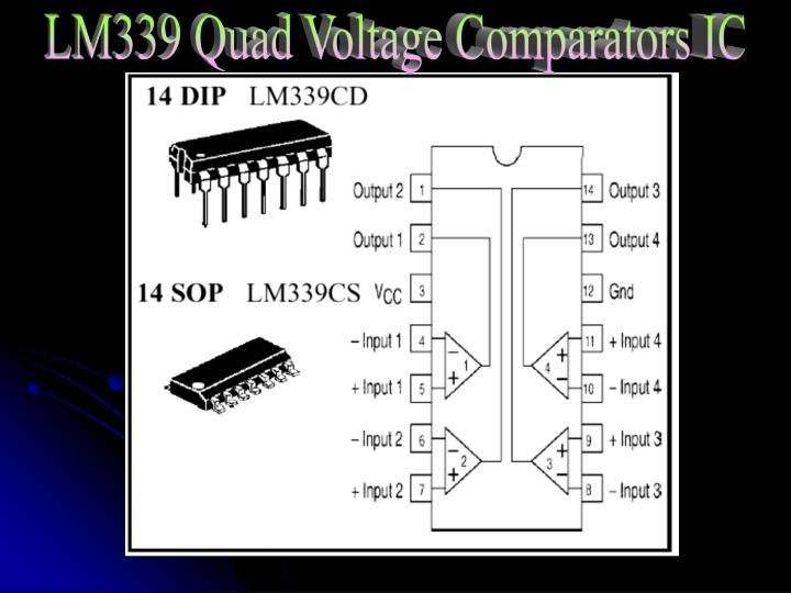LM339 Quad Voltage Comparators IC