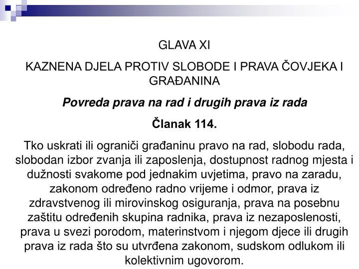 GLAVA XI