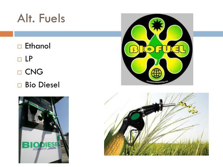 Alt. Fuels