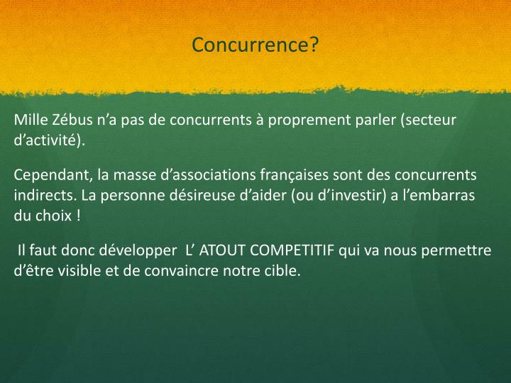 Concurrence?