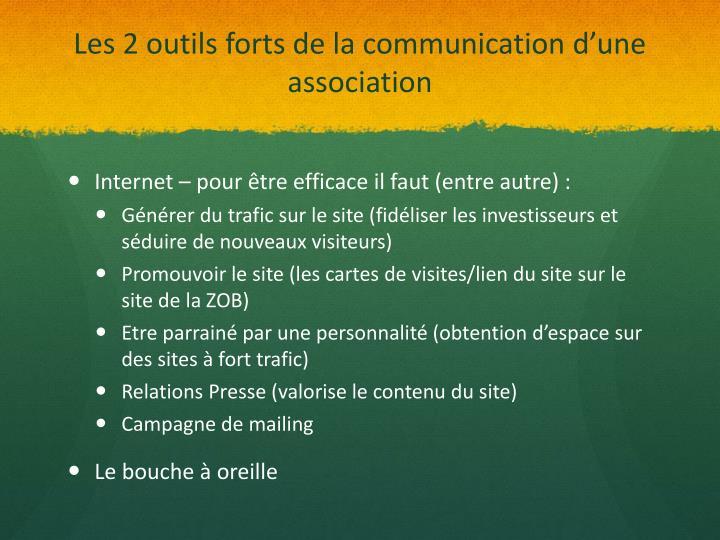 Les 2 outils forts de la communication d'une association
