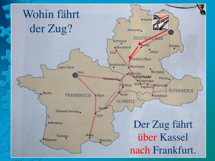 Wohin fährt der Zug?