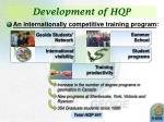 development of hqp