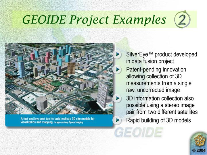 GEOIDE Project Examples