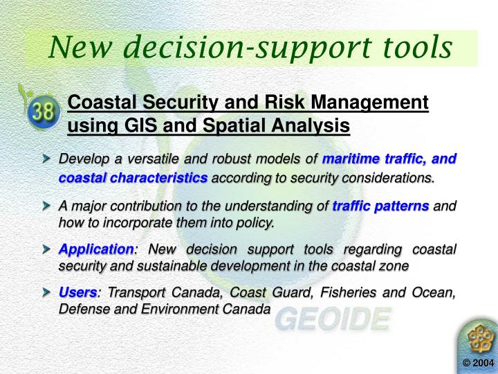 New decision-support tools