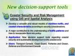 new decision support tools