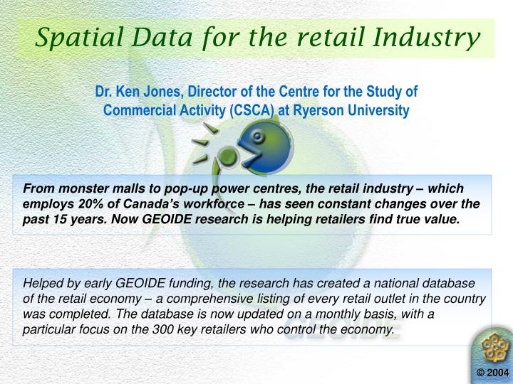 Spatial Data for the retail Industry