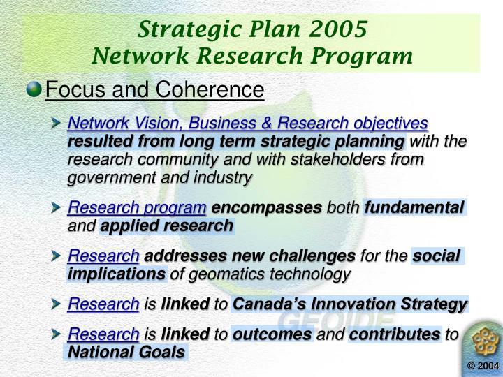 Strategic Plan 2005