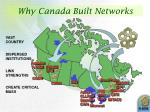 why canada built networks