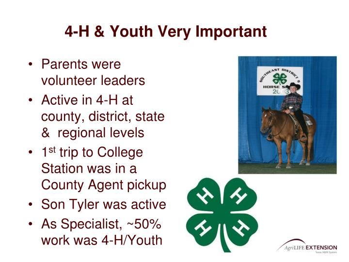 4-H & Youth Very Important