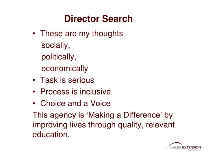 Director Search