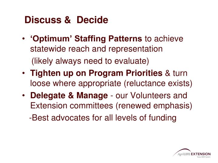 Discuss &  Decide