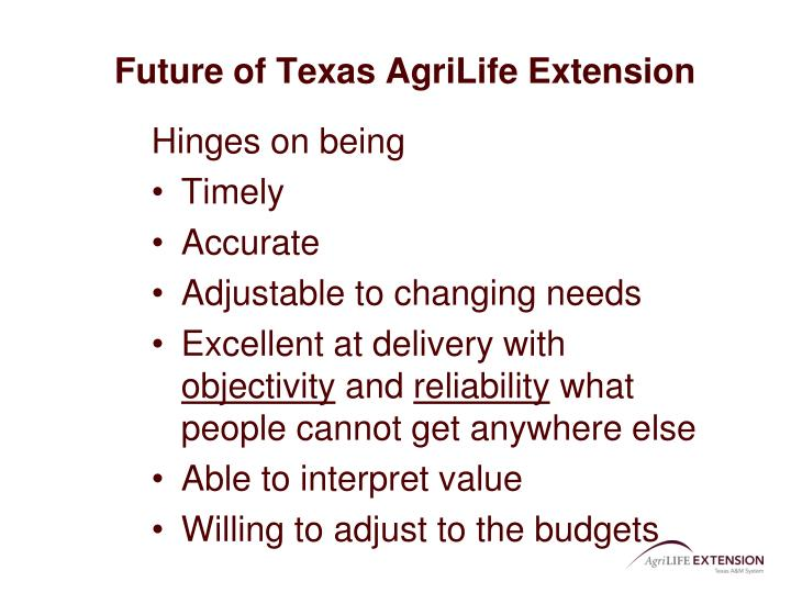 Future of Texas AgriLife Extension