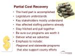 partial cost recovery