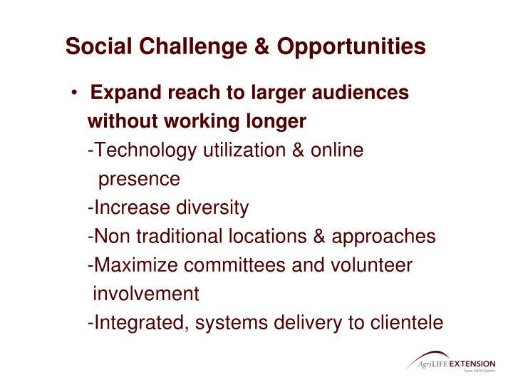 Social Challenge & Opportunities