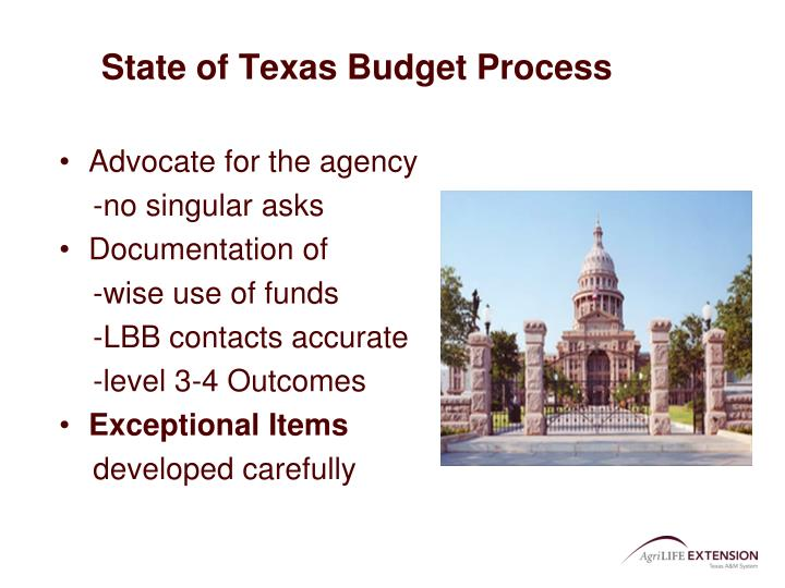 State of Texas Budget Process